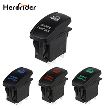 Car Switch Carling Style LED Light Bar Toggle Rocker Switch 5 Pin SPST ON-OFF Waterproof Rocker Switch for Car Boat Truck 12V стоимость