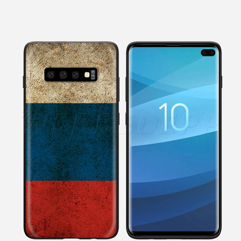 Flag Russian Bear Eagle Case For Samsung Galaxy S7 S8 S9 S10 Plus Edge Note 10 8 9 A10 A20 A30 A40 A50 A60 A70