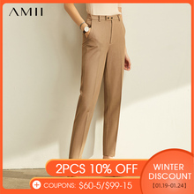 Amii Spring Spring Pants Female Office Lady Solid High Waist Female Trousers Fashion Straight Suit Pants For Women 11960733