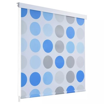 vidaXL Shower Roller Blind 140 x 240cm Circle 142856