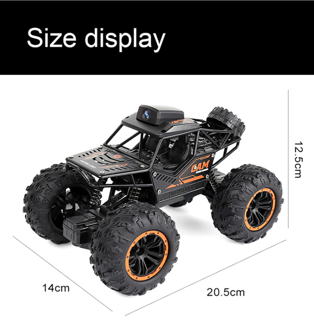 Newest 2.4G WIFI FPV RC Car With 2MP HD Camera Remote Control Crawl Off Road RC Racing Car with 3pcs car battery phone control 5