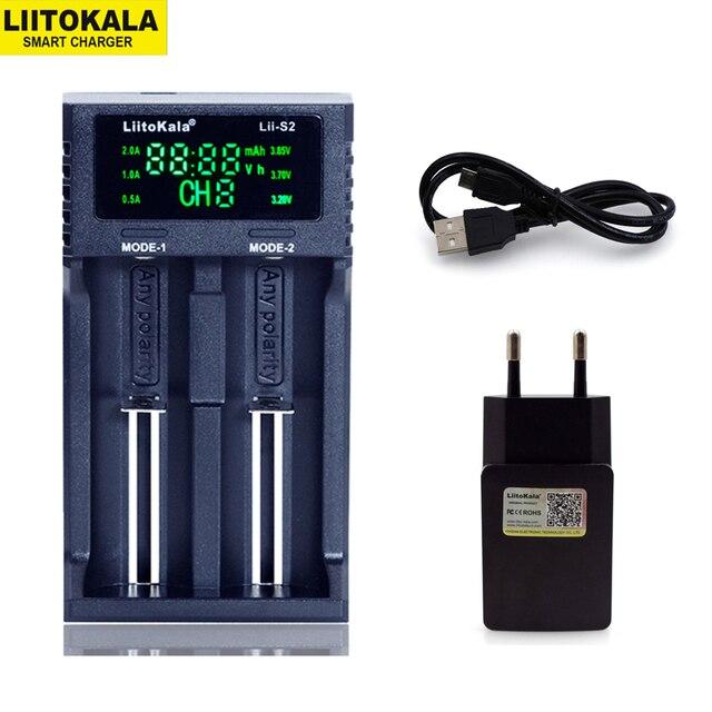 새로운 liitokala Lii PD4 s4 s2 402 202 100 18650 배터리 충전기 1.2 v 3.7 v 3.2 v aa21700 nimh 리튬 이온 배터리 스마트 충전기 + 5 v 플러그