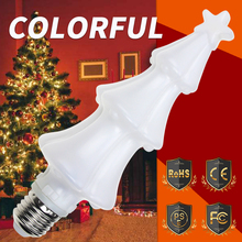 E27 Flame Effect LED Bulb Lamp E26 Fire Light RGB Dynamic Flickering Christmas Decoration Holiday Lighting 3W