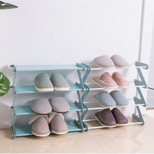 Hot Removable Multi-layer Shoes Storage Tier Z-shaped Shoes Rack Shelf Organizer Holder Door Cabinet Furniture 4 Colors Holder(China)