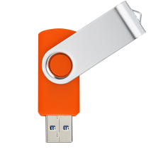 J-boxing 16GB USB 3.0 Flash Drive Metal Folding Memory Stick Pen for Computer Tablet Mac Orange