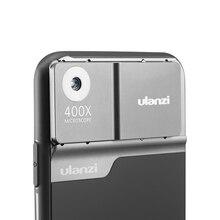 Ulanzi 400X, Kit de funda de lente de teléfono microscopio para iphone 11 Pro max, Kit de lente con luz integrada