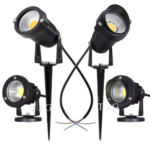 Image 1 - LED COB مصباح إضاءة حديقة 3 واط 5 واط 10 واط في الهواء الطلق سبايك مصباح حديقة مقاوم للماء مصباح إضاءة Led خفيف حديقة مسار الأضواء AC110V 220 فولت DC12V