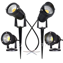 Spotlights Lawn-Lamp Spike LED Garden-Path Outdoor Waterproof 220V 3W 10W COB 5W AC AC110V