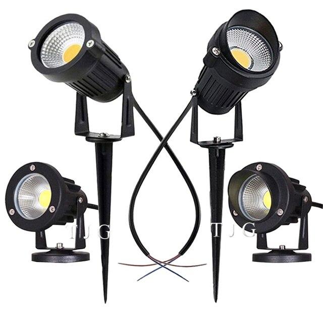 LED COB jardin éclairage 3W 5W 10W extérieur Spike pelouse lampe étanche lampe Led Led lumière jardin chemin projecteurs AC110V 220V DC12V