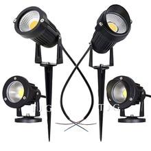 LED COB oświetlenie ogrodowe 3W 5W 10W na świeżym powietrzu Spike lampa trawnikowa wodoodporna oświetlenie Led ścieżka ogrodowa reflektory AC110V 220V DC12V