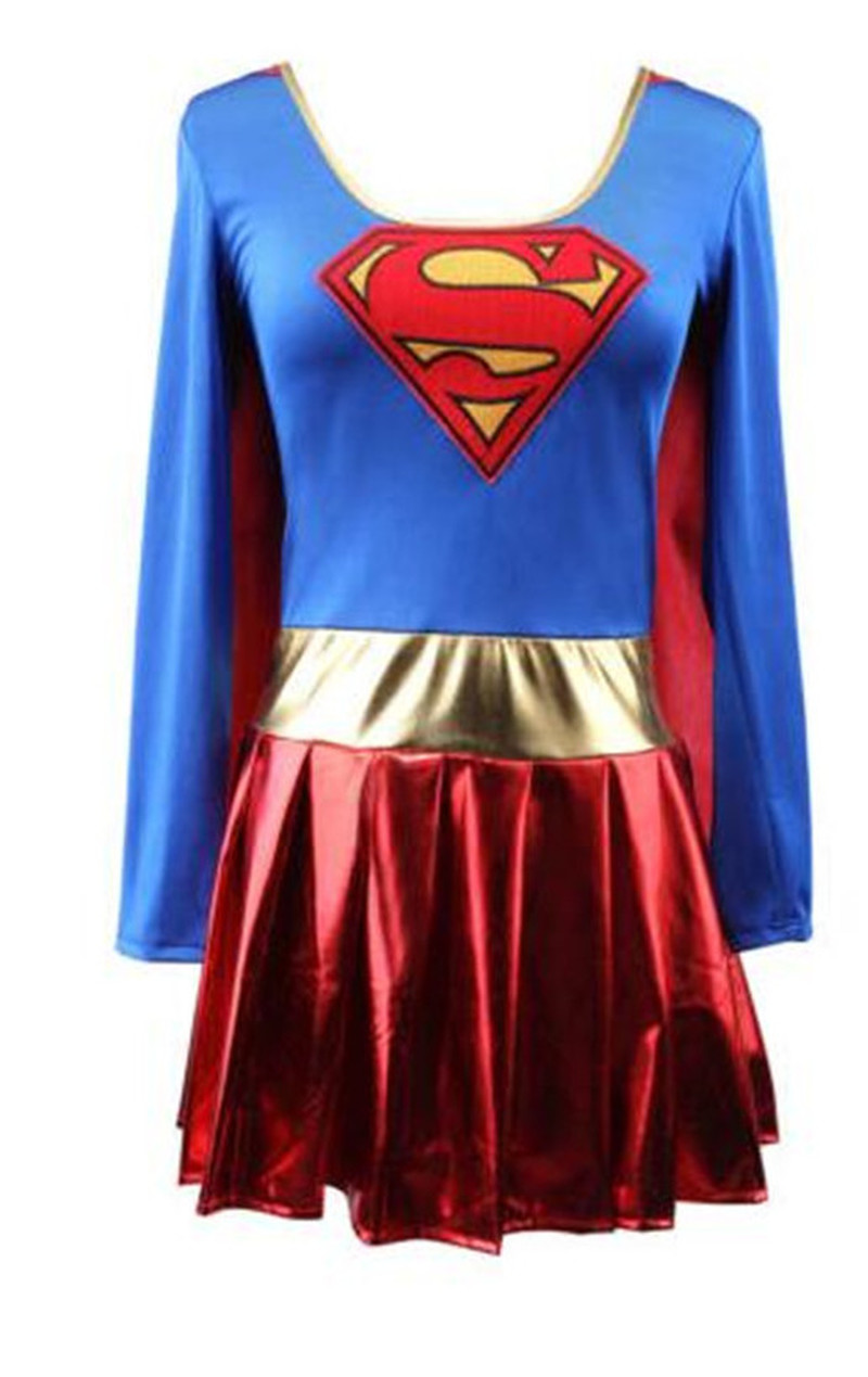 <font><b>Halloween</b></font> Superwoman <font><b>Sexy</b></font> Adult Costume <font><b>Halloween</b></font> <font><b>Cosplay</b></font> Game Anime Party Performance Superhero Female Costume image