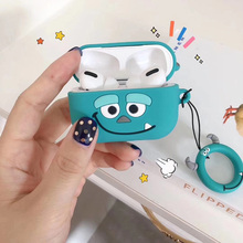 3D Cartoon Cute Wireless Earphone Case For AirPods 1 2 Pro Cover Headset Soft Box Shell With Lanyard