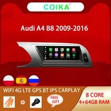 """8 Nhân 8.8 """"Đầu Xe Ô Tô Đơn Vị Cho Xe Audi A4 B8 2009 2016 Hệ Thống Android 9.0 WIFI Google IPS cảm Ứng Âm Thanh Nổi BT Carplay Năng 4 + 64G GPS"""