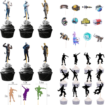 Game Party Cake Flag Fortnite Topper Birthday Cake Decoration Card Fortress Night Party Cake Topper Flag Game Decoration Flag 1