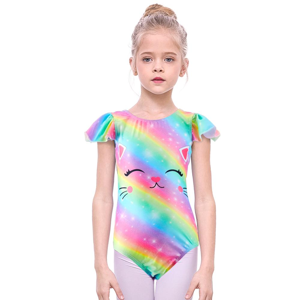 Aislor Kids Girls Ballerina One Piece Gymnastics Leotard Criss Cross Back Ballet Dance Unitard Cotton Camisole