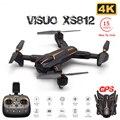 VISUO XS812 gps Дрон с камерой 4K HD Дрон 5G wifi FPV удерживающий высоту один ключ возврат RC Квадрокоптер Вертолет VS E520S SG906