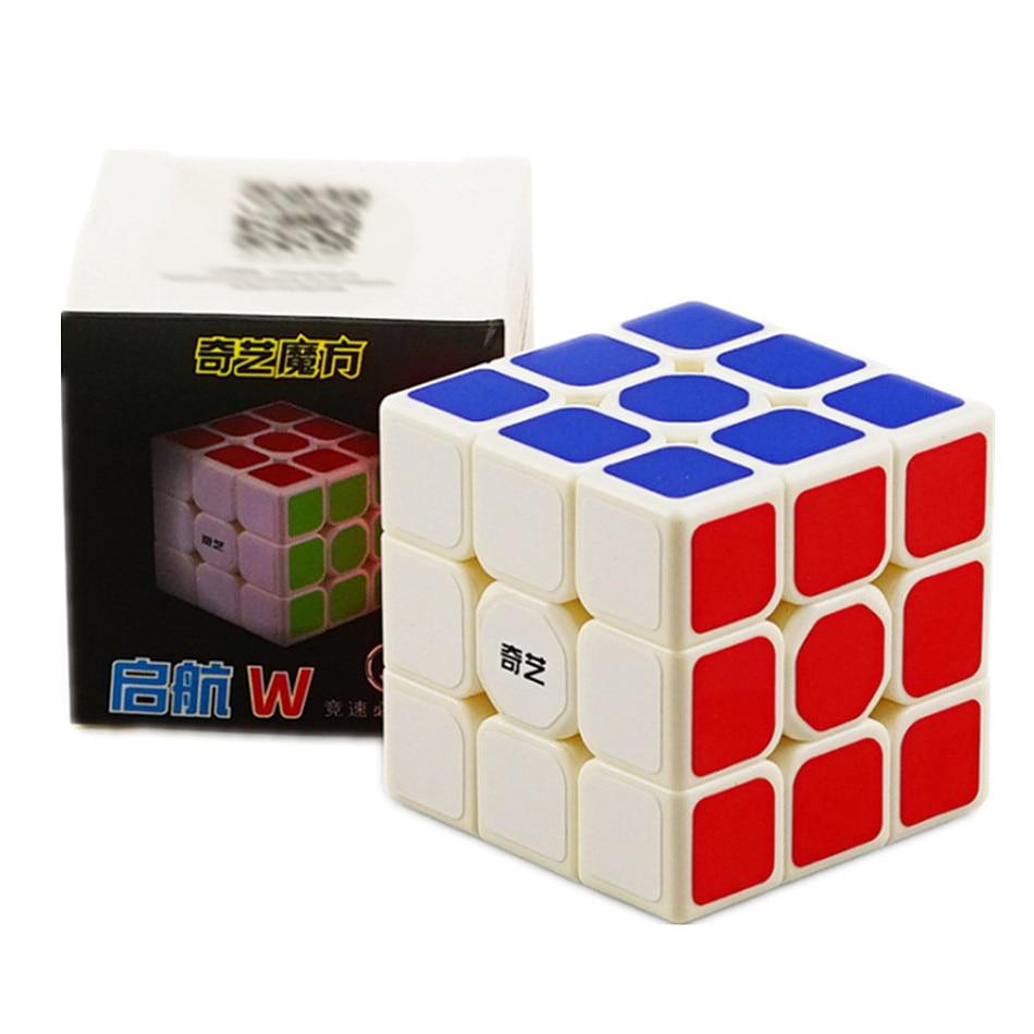 Qiyi QiHang Sail W 3x3 Puzzle Speed Magic Cube Toys For Kids Intelligence Education 3x3x3 Cubo Magico Toys Black White Sticker 8