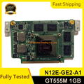 Для ASUS N75S N75SF N55SF N75SL N55SL GeForce GT 555M GT555M N12E-GE2-A1 VGA Видеокарта 1 ГБ Ноутбук полностью протестирован