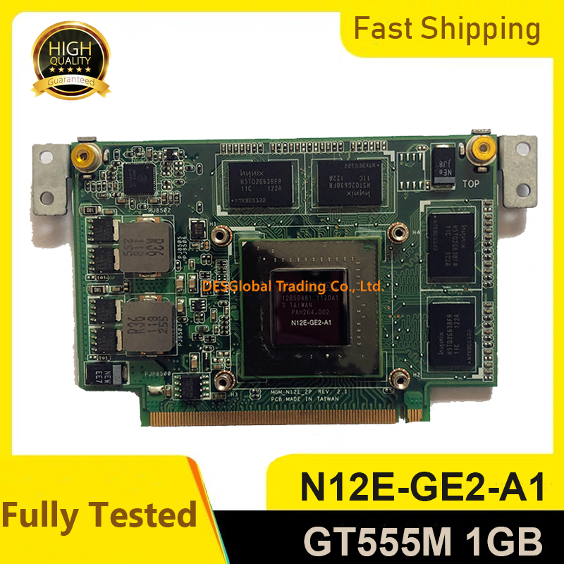 For ASUS N75S N75SF N55SF N75SL N55SL GeForce GT 555M GT555M N12E-GE2-A1 VGA Video Graphic Card 1GB Laptop Fully Tested