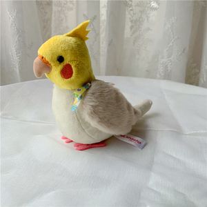 Image 5 - 14cm Cockatiel Plush Toys Soft Real Life Budgie Lovebird Stuffed Animals Toy Budgerigar Birds Stuffed Toys Gifts For Kids