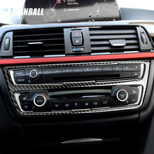 1pc rear air conditioning knob cover panel decorative cover plating ring for volkswagen sharan auto accessories Car Air Conditioning CD Panel Carbon Fiber Decorative Cover Trim Accessories Car Styling Sticker for BMW F30 F34 2013-2016