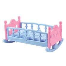 Schaukeln Wiege Krippe Bett Schlafzimmer Möbel Für 25cm Mellchan Puppen Zubehör