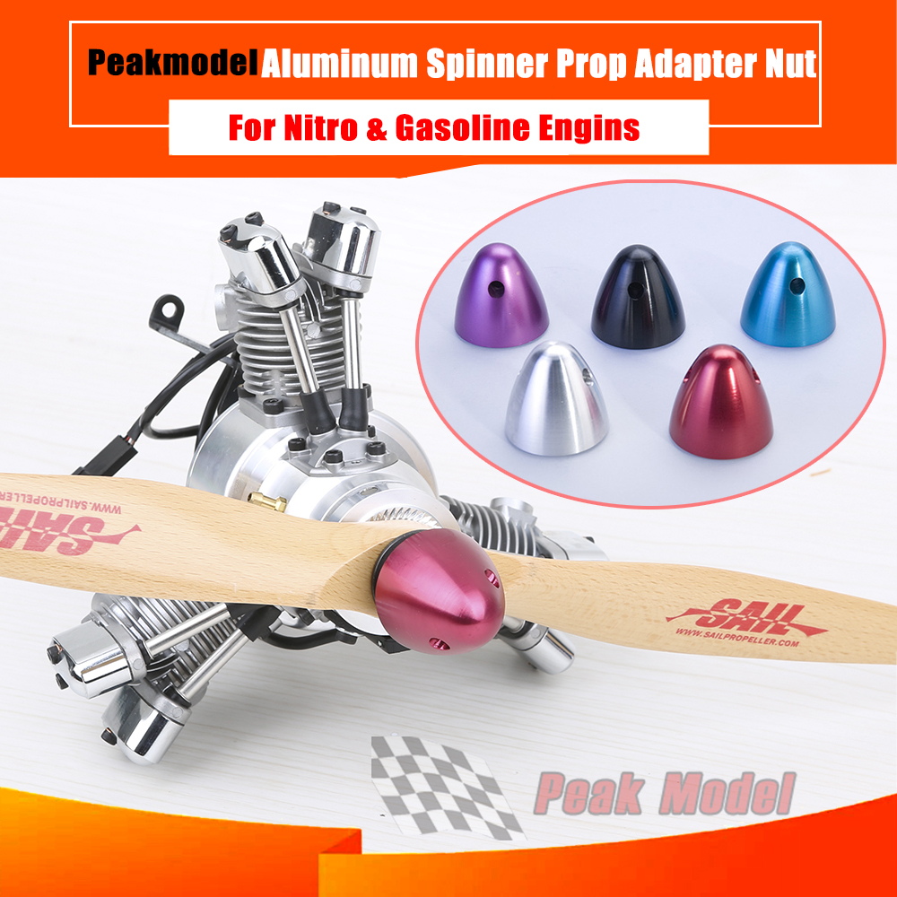 Aluminum Prop Adapter Nut / Metal Anodized  Paddle Head / Spinner For OS SAITO YS DLE RCGF NGH Engines