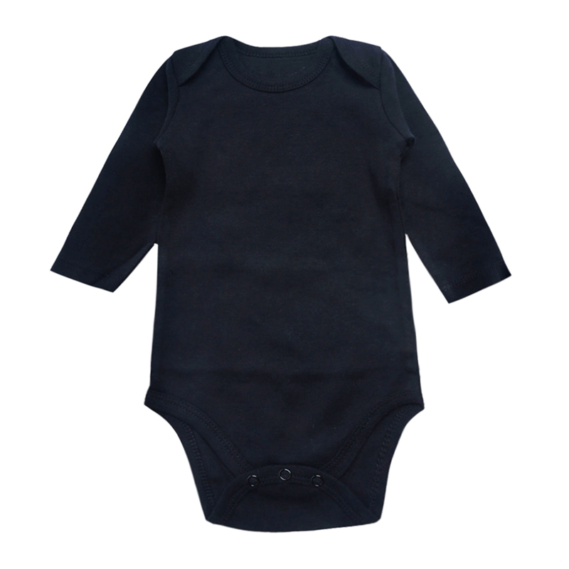 Newborn Bodysuit Baby Boys Girls Clothing Long Sleeve Black 3 6 9 12 18 24 Months Babies Kids Clothes