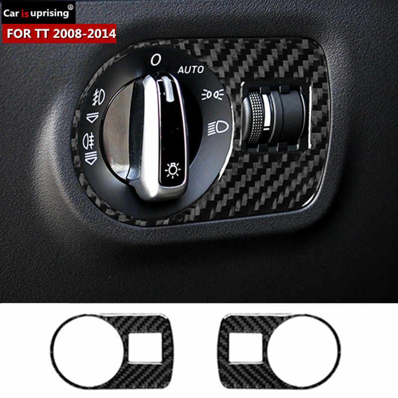 Carbon Fiber Auto Scheinwerfer Schalter Schneidet Dekorative Abdeckung Aufkleber Für Audi Tt 8n Mk123 Ttrs Auto Innen Zubehör Car Stickers Aliexpress