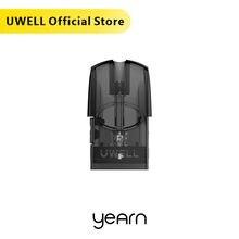 UWELL Yearn 포드 카트리지 4 개/갑 1.4 ohm 코일 헤드 재충전 용 포드 1.5 ml 용량 Yearn Vape Pod 시스템에 적합