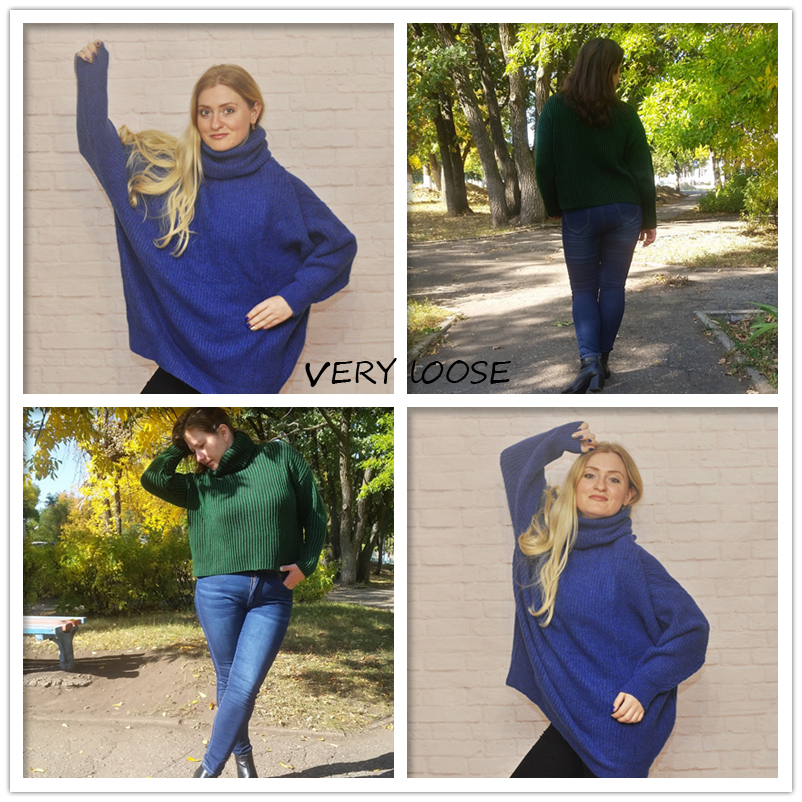 AOEMQ Winter Hot Sell Sweater Keep Warm Use High Turtleneck Protect Neck Winter Warm Sweater Cotton Soft Sweater for Women 5