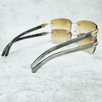 Genuine Buffalo Horn Sunglasses Women Luxury Carter Mens Glasses Wholesale Vintage Trendy Sun Designer Buffs