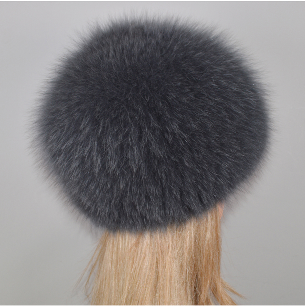 H6fa3378e2fec46689a20e0c251535e3aa - New Luxury 100% Natural Real Fox Fur Hat Women Winter Knitted Real Fox Fur Bomber Cap Girls Warm Soft Fox Fur Beanies Hats