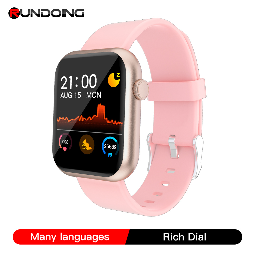 RUNDOING R3L Smart Watch Women Blood Pressure Oxygen Monitor with Game Function Multilingual Smartwatch Men for Android IOS
