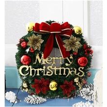 Wieniec świąteczny LED Light String frontowe drzwi wiszące dekoracje świąteczne Garland