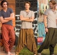 India Nation Leisure Time Real Concise India Tourism Bound Feet Loose Trousers indian dress kurta men set