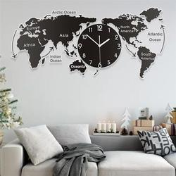 1 adet benzersiz akrilik duvar saati yaratıcı dünya haritası duvar asılı saat ofis ev oturma odası duvar sanatı ev dekorasyonu