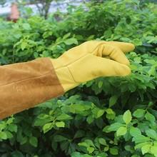 Нескользящие садовые перчатки для двора прочные устойчивые к прокалыванию пчеловодства сварочные порезы шип с длинным рукавом мягкая Роза Обрезка