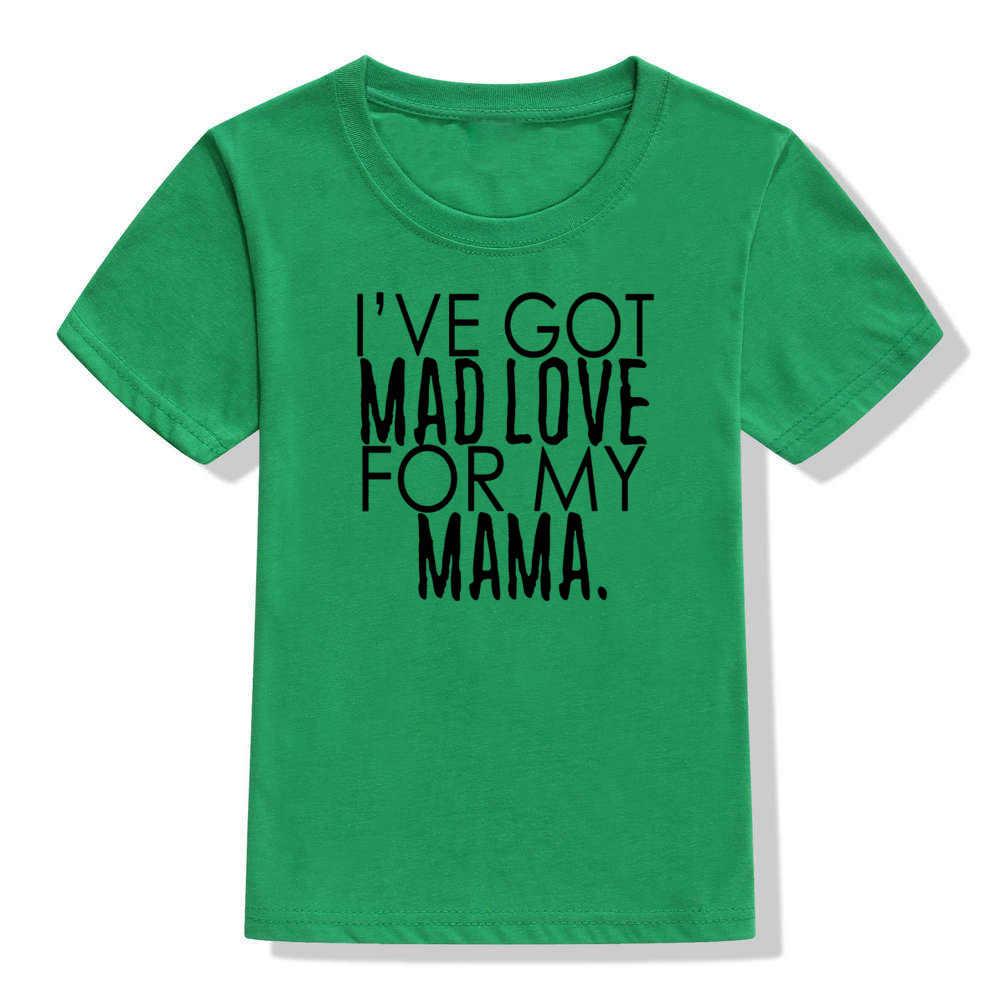 I 've Got Mad amor por mi mamá imprimir niños camiseta letras divertidas impresas niño camiseta niños moda camisetas de manga corta