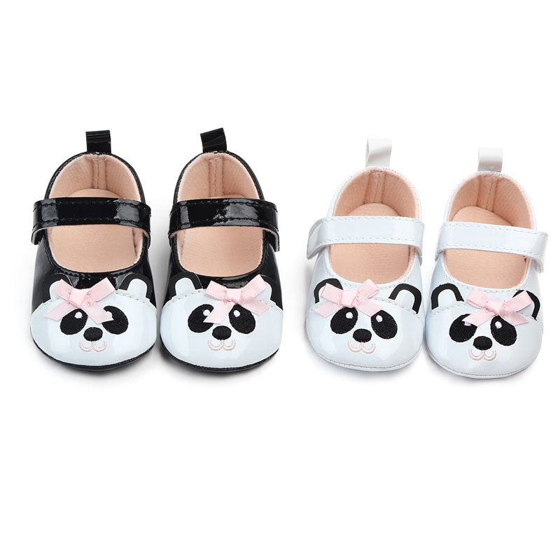 Autumn Winter Baby Shoes First Walk Cartoon Panda Slippers Newborn Boy Girl Baby Anti-slip Floor Shoes PU Baby Toddler Shoes