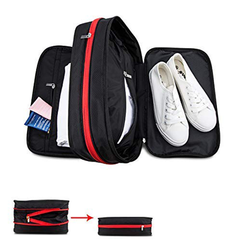 2019 New Compression Packing Cubes Travel Luggage Organizer Waterproof Hand Luggage Nylon Men Women Large Capacity Travel Bag