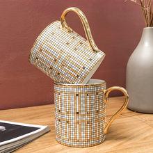 Роскошные кофейные кружки с мозаикой благородного дизайна керамические