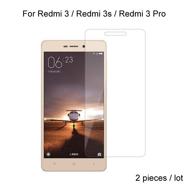 2pcs Glass For Xiaomi Redmi 3 / Redmi 3s / Redmi 3 Pro Premium 2.5D 0.26mm Tempered Glass Screen Protector Protective Film Glass