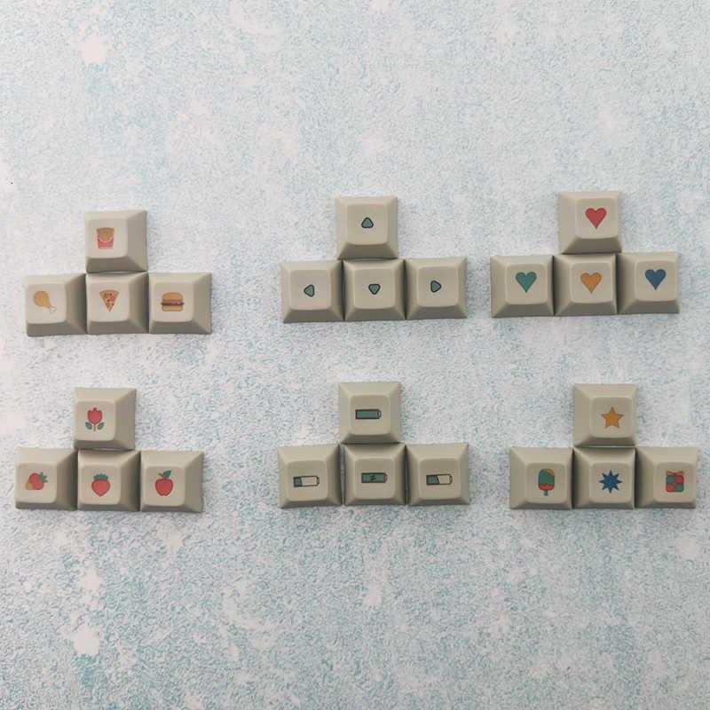 לצבוע תת Dsa פרופיל רוסית שורש עבה Pbt Keycaps סט עבור משחקים מכאניים מקלדת אן פרו 2 Gk61 Akko 3087 ASNI 87 104