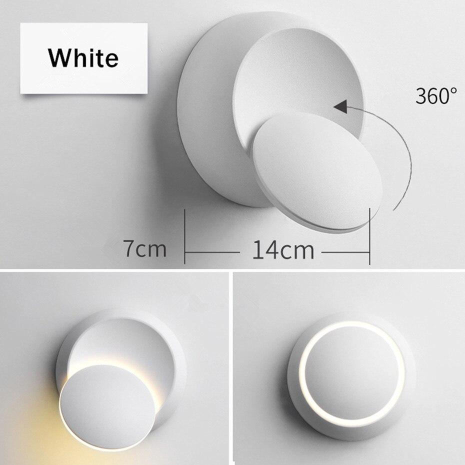 360 graus ajustável redondo criativo luz para