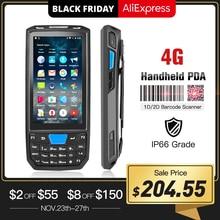 מחשב כף יד אנדרואיד כף יד מסוף Honeywell סורק ברקוד 1d לייזר 2d QR נייד נתונים אספן מכשיר עם WIFI 4G NFC