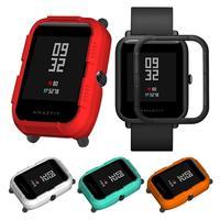 Protector de pantalla completa de la cubierta de la caja de Protector smart watch marco accesorios para Xiaomi Huami Amazfit Bip poco los jóvenes