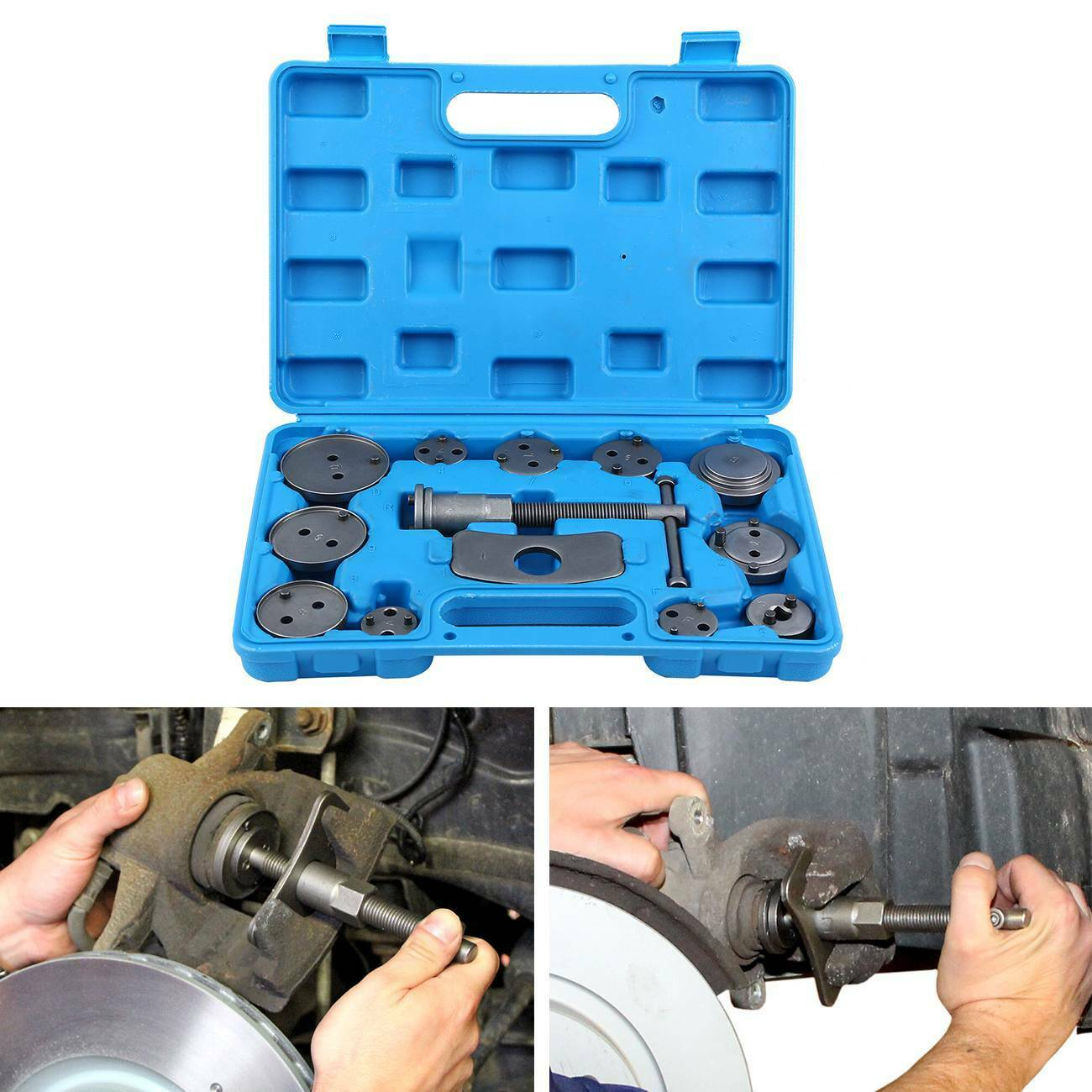 Samger 13pcs Universal Auto Car Brake Piston Reset Set Precision Disc Brake Caliper Wind Back Tool Kit Brake Pad Car Repair Tool