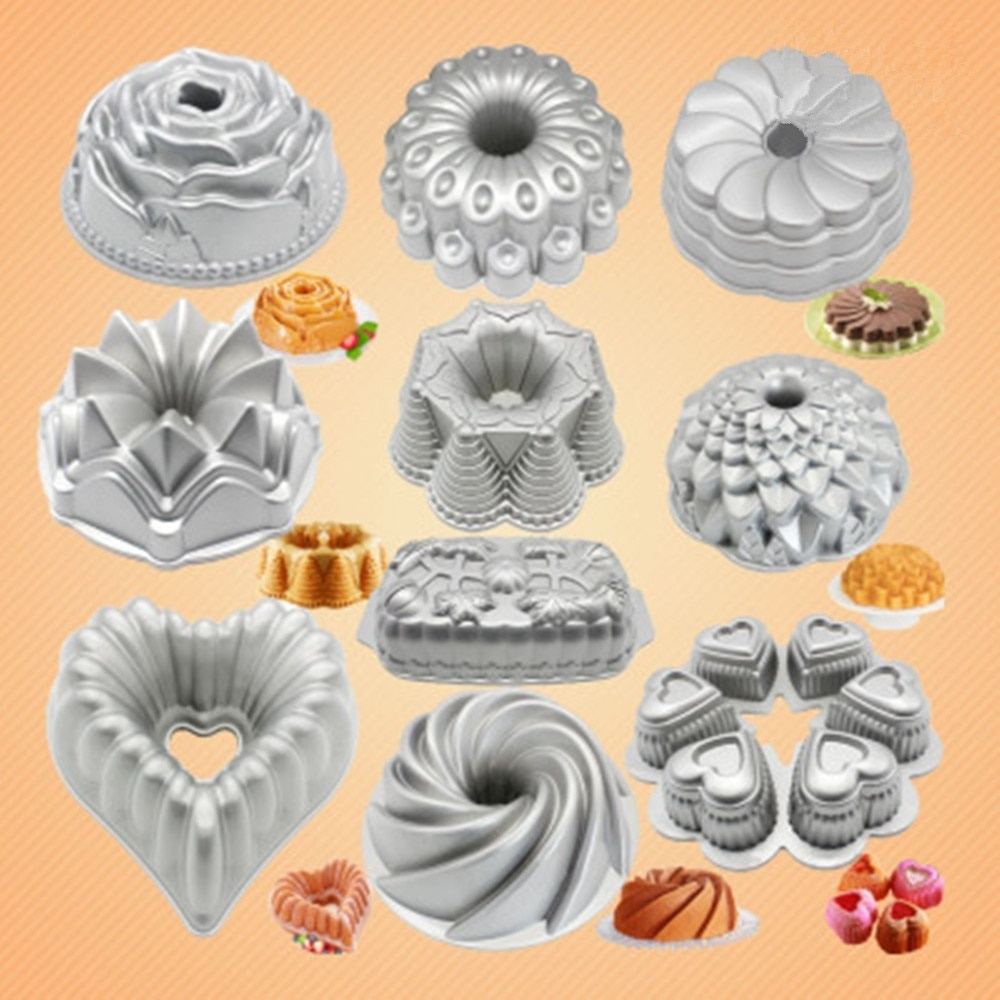 10 Inch Cast Aluminum Christmas Rose Cake Pan Pumpkin Heart-Shaped Mousse Cake Mold Party Baking DIY Cake Pans Decoration Mould