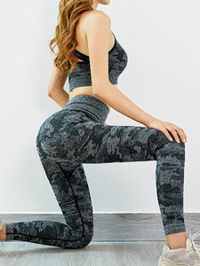 Leggings Gym-Set Sports-Suit Seamless-Workout Fitness Women 2piece And